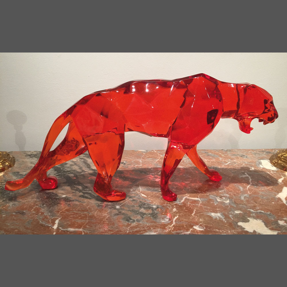 Richard Orlinski, « Cristal Panther », Cristal resin, 70 cm
