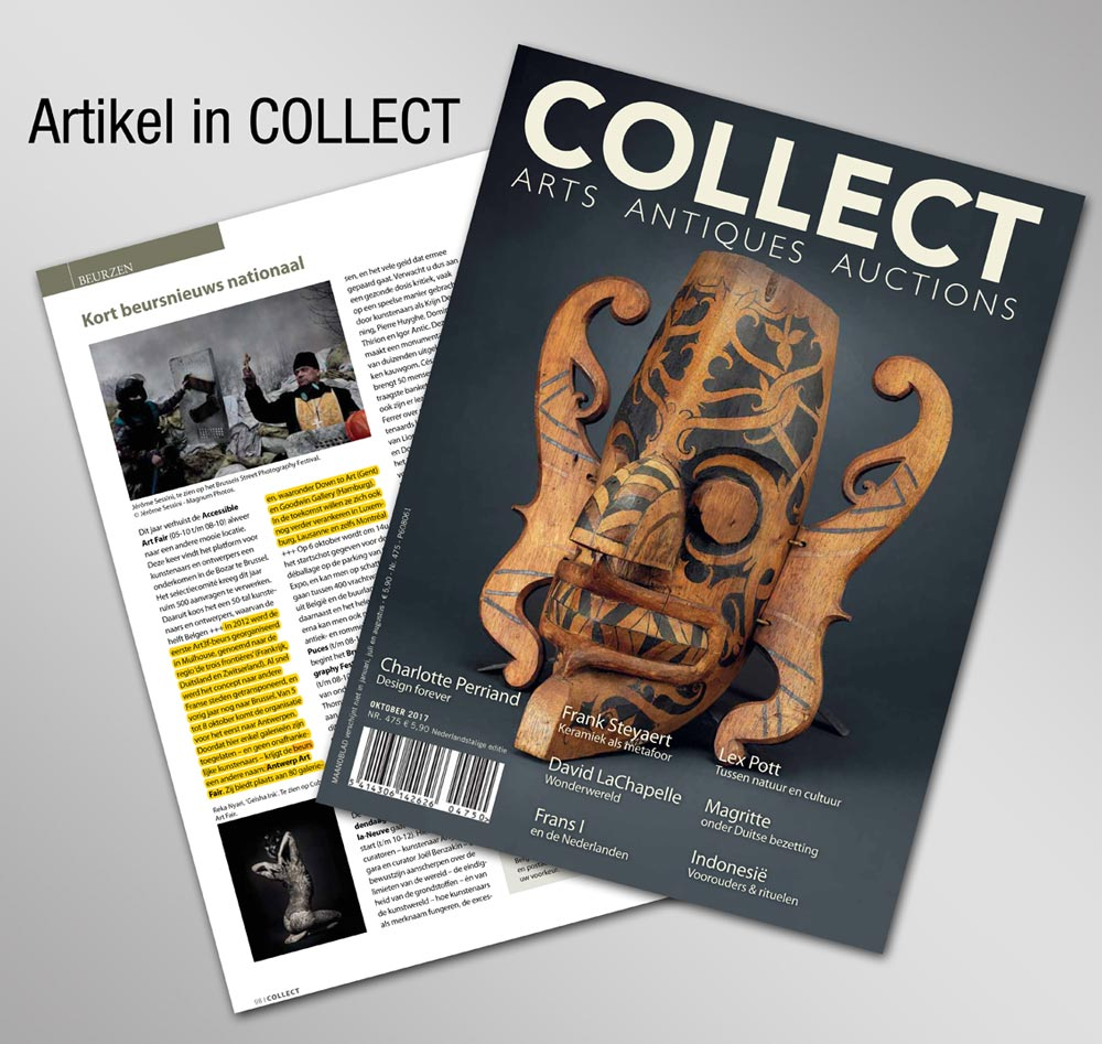 COLLECT NR 475 Oktober 2017 Antwerp ART FAIR Artikel