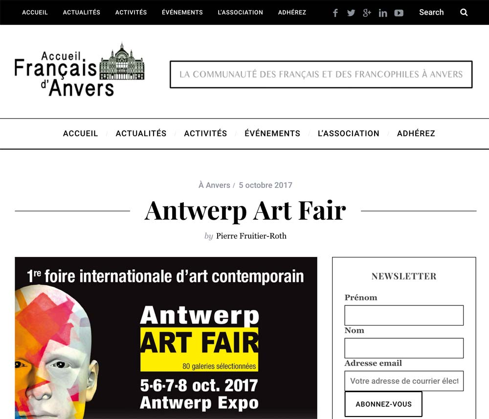 accueilanvers.org Antwerp ART FAIR