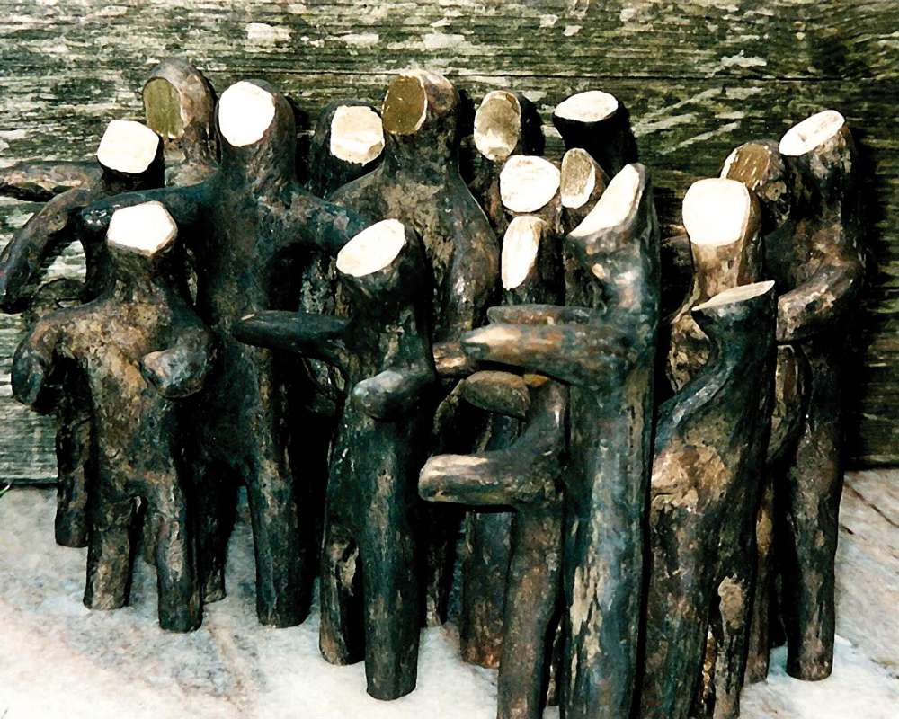 Walter Dorsch, « Die Horde » Bronze, group of 19 bronze figures, massive, up to 24 cm high