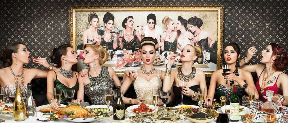 Philippe Shangti, « Remember Luxury Dinner » C-Print Diasec photography 64 x 150 cm