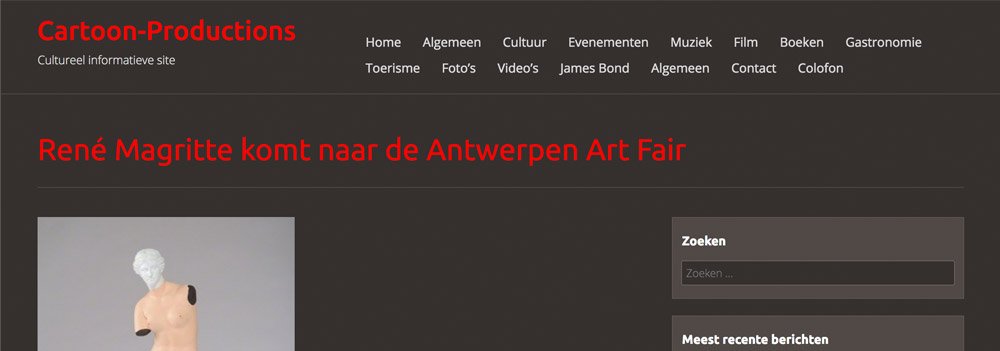 Magritte Antwerpen ART FAIR cartoon-productions.be